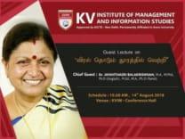 KVIMIS Guest Lecture - B School, Coimbatore
