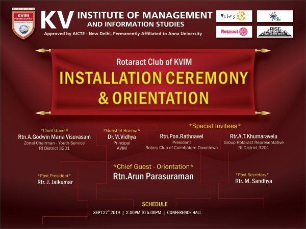 KVIM-Installation Ceremony and Orientation