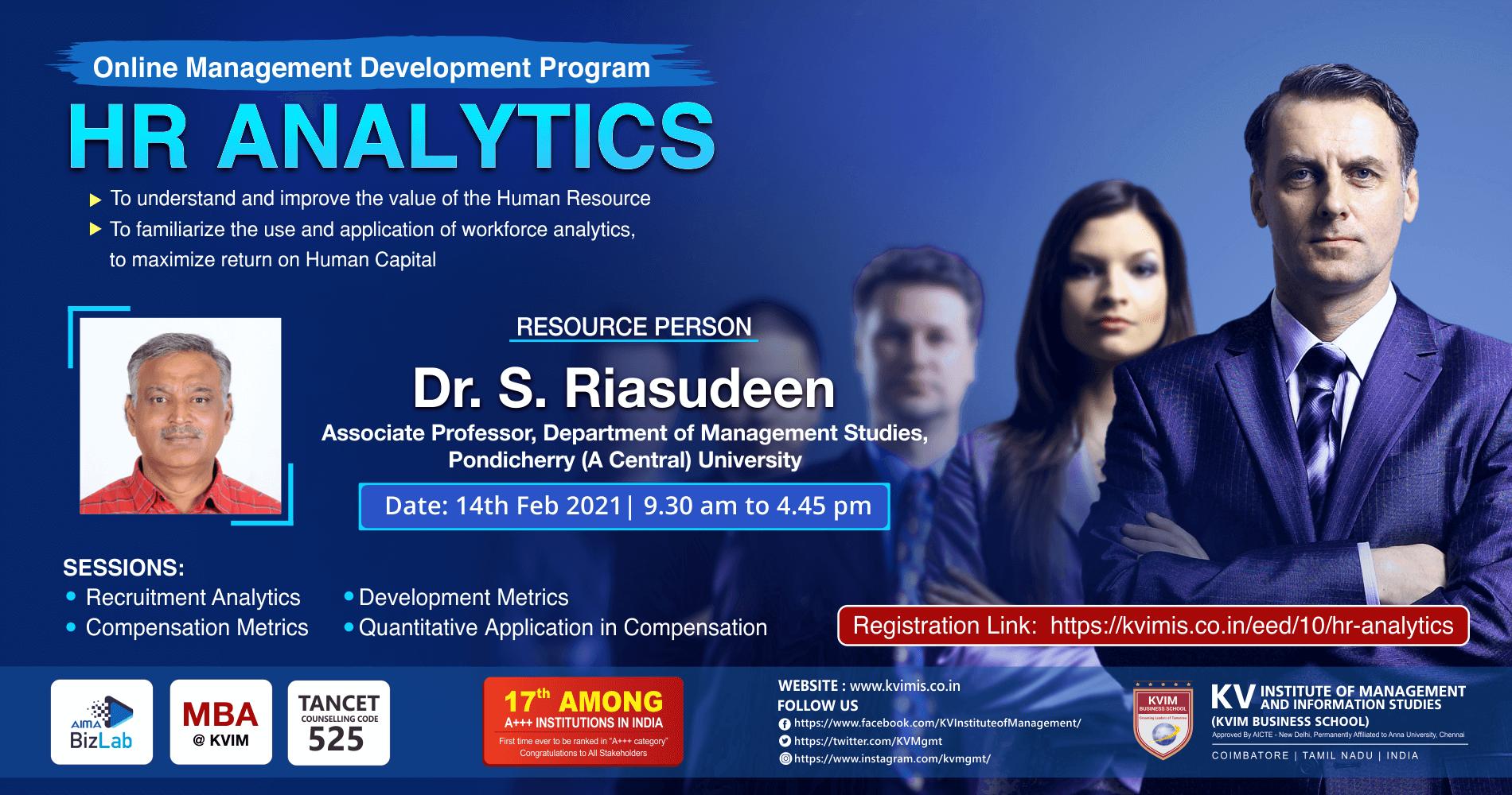 HR Analytics - KVIMIS,Coimbatore