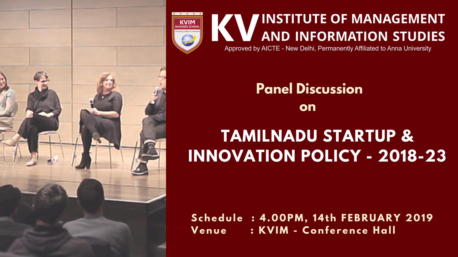 KVIMIS Panel discussion- B School, Coimbatore