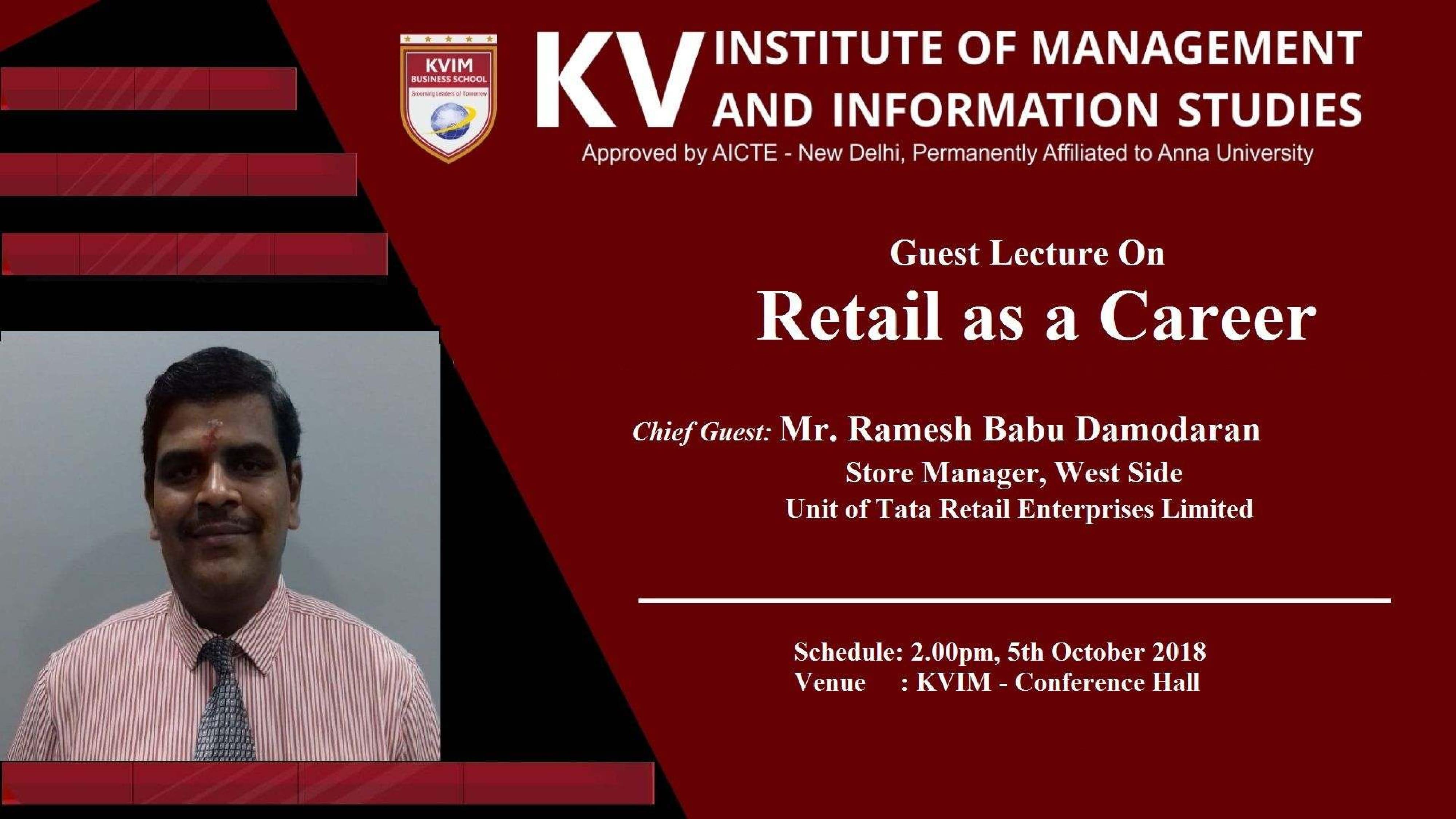KVIMIS Guest Lecture- B School, Coimbatore
