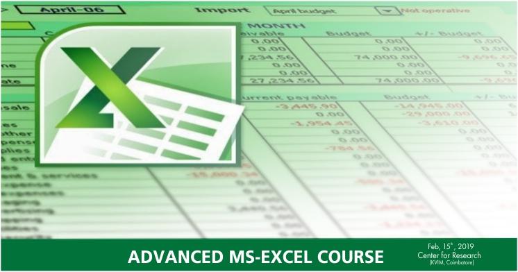 KVIMIS EED advance excel image - Coimbatore