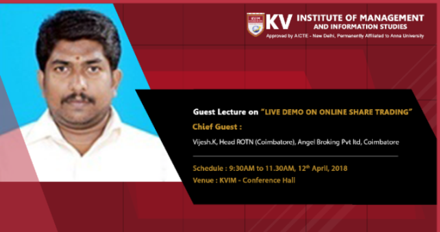 Guest Lecture on Live Demo on Online Share Trading | KV INSTITUTE OF