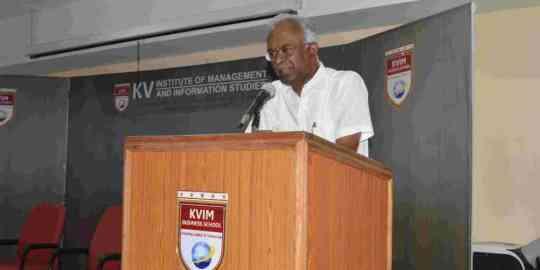 KVIMIS Union Budget Image - B School , Coimbatore