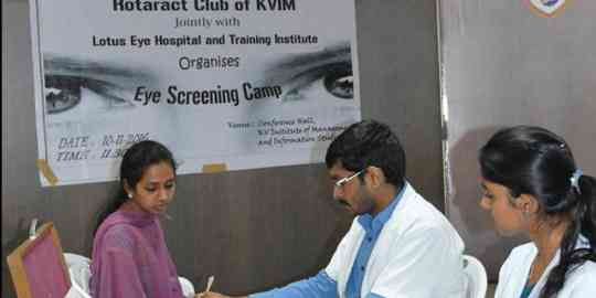 KVIMIS Eye Screeing Camp, Coimbatore